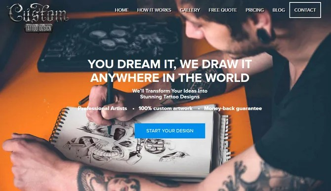 Custom Tattoo Design Screenshot - The 10 Best Sites for Free Tattoo Designs and Ideas