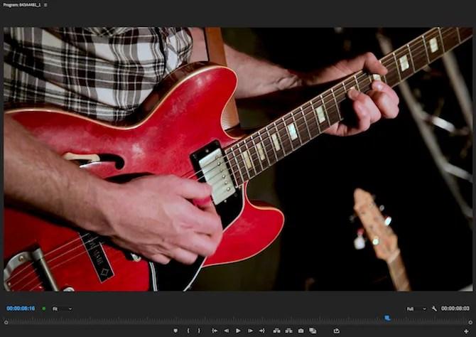 Premiere Pro color corrected image