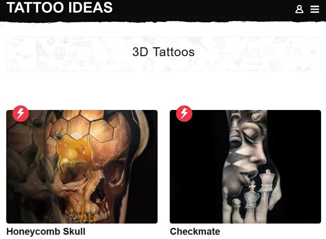Tattoo Ideas Screenshot - The 10 Best Sites for Free Tattoo Designs and Ideas