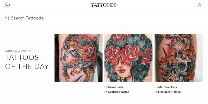 Tattoodo Screenshot - The 10 Best Sites for Free Tattoo Designs and Ideas