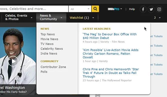 IMDb News