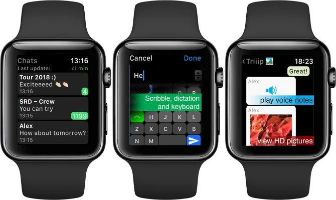 WatchChat for WhatsApp Apple Watch