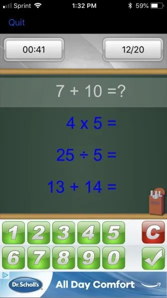 BrainSchoolMobileEquations 335x596 - The 7 Best Brain Exercise Games for Android and iOS