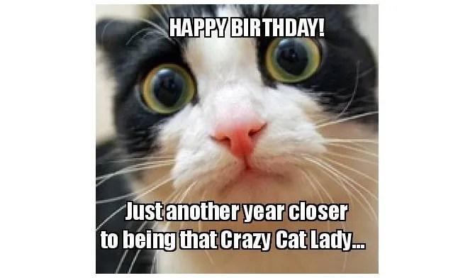 Meme di compleanno di Crazy Cat Lady