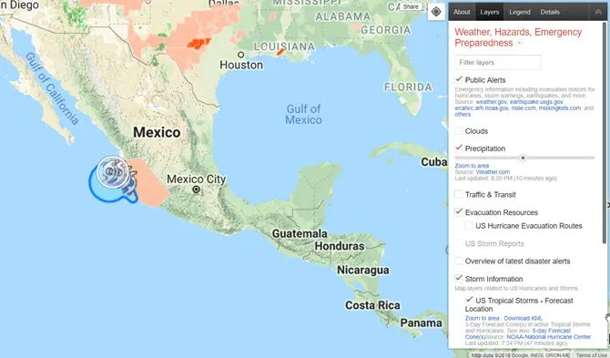 Google Earth Crisis Map