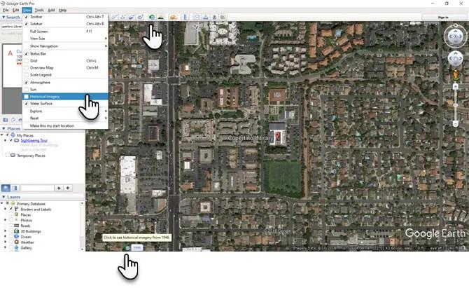 Immagini storiche di Google Earth