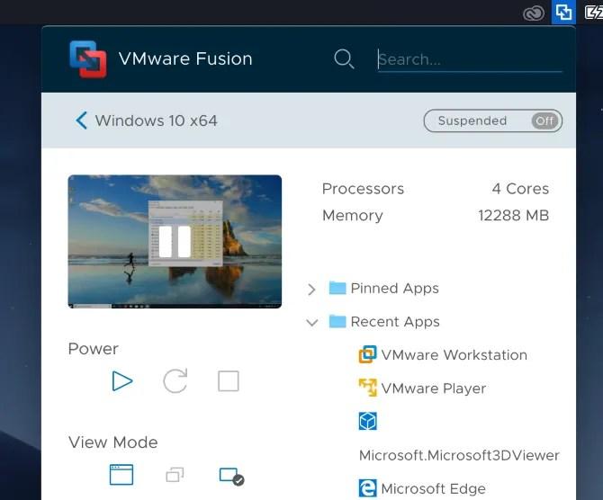 VMWare-Fusion-App-Menu