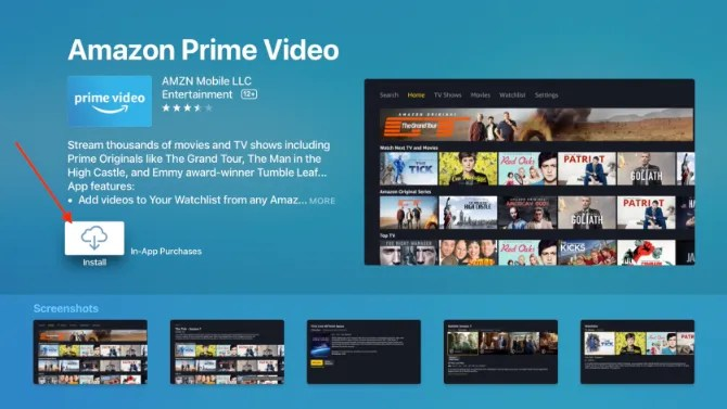 Download dell'app Amazon Prime Video