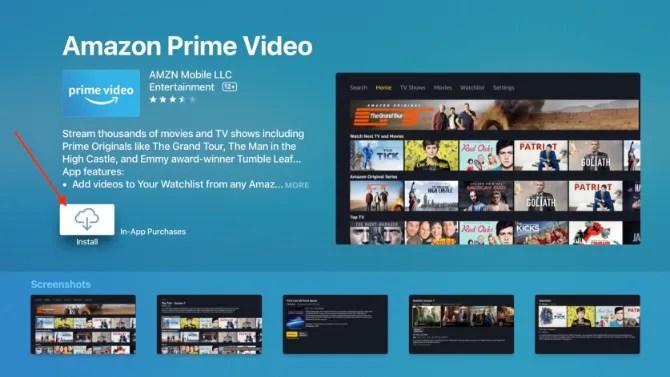Download dell'app Amazon Prime Video