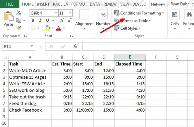 formattazione condizionale in Excel