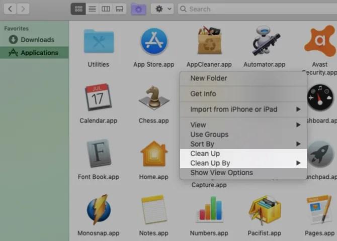 context-menu-clean-up-opzioni-a-finder-on-mac