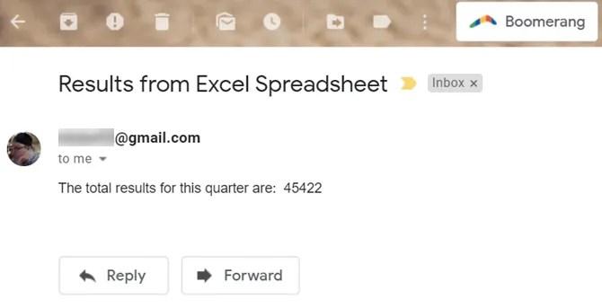 email eccellente ricevuta