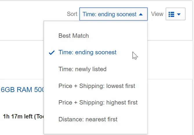 oggetti ebay che finiscono al più presto