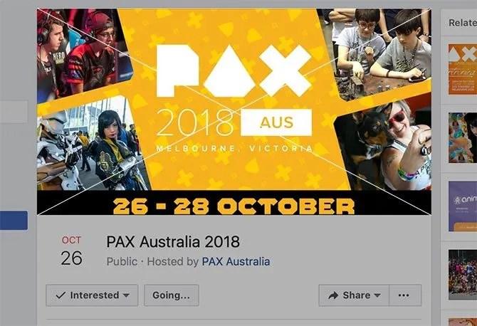 Dimensione foto per la copertina dell'evento di Facebook