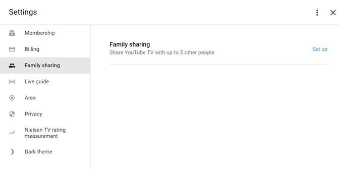 abilitare la condivisione della famiglia