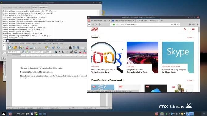 completa il desktop di mx linux