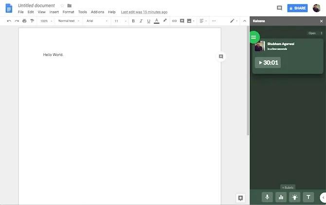 Componente aggiuntivo Kaizena di Google Documenti