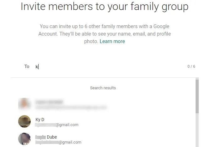 aggiungi membri della famiglia
