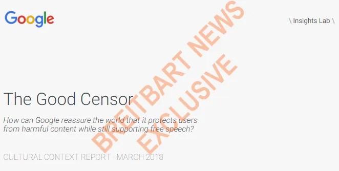 google trapelato riporta la buona prima pagina della censura