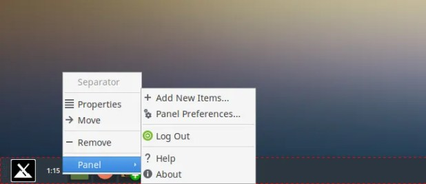 move taskbar items
