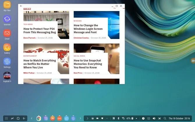 Modalità desktop su dispositivi Samsung Galaxy con DeX
