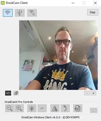 muo android webcam droidcam client - تطبيق DroidCam يمكنك من استخدام كاميرا هاتفك على شاشات الكمبيوتر