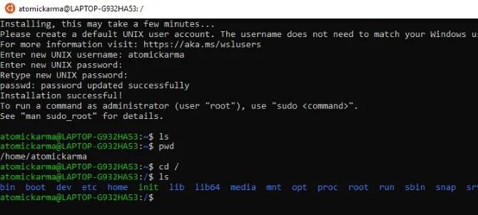 Esplora l'ambiente Linux in Windows