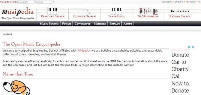 cercatore di canzoni di musipedia per suono