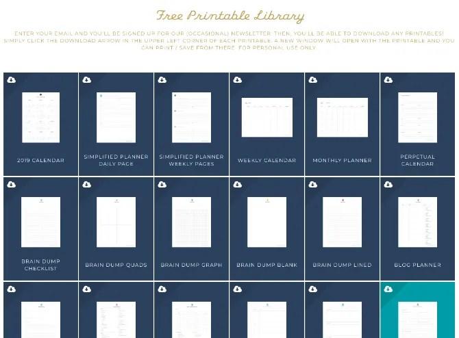 Simplified's Printables — 40 бесплатных шаблонов для любых целей