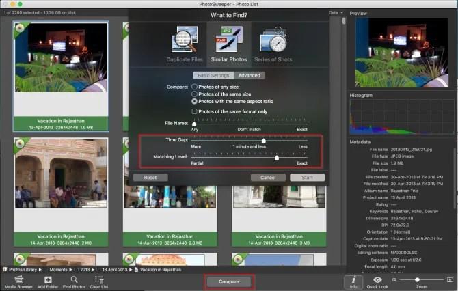 rimuovere le foto duplicate con il fotosweeper