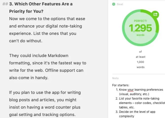 Come trovare l'App perfetta per prendere appunti con questa lista di controllo