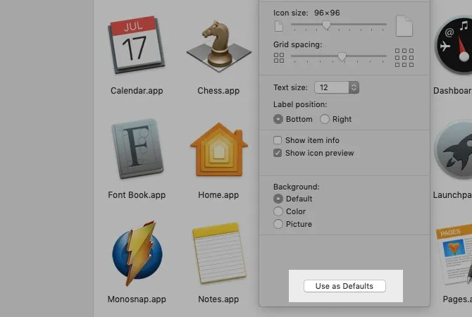 utilizzare-as-default-button-in-icon-view-in-finder-on-mac