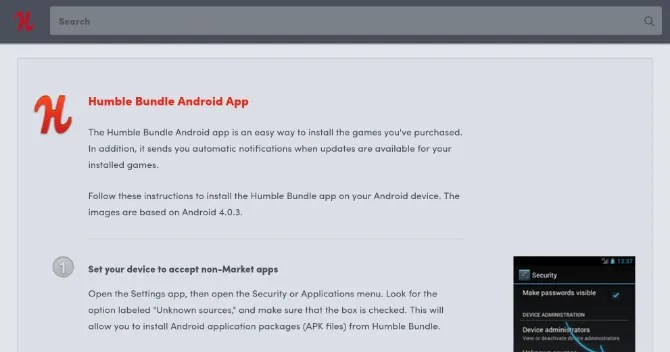 App Android Humble Bundle non in Play Store