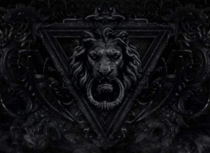 Gothic Lion Dark Wallpaper