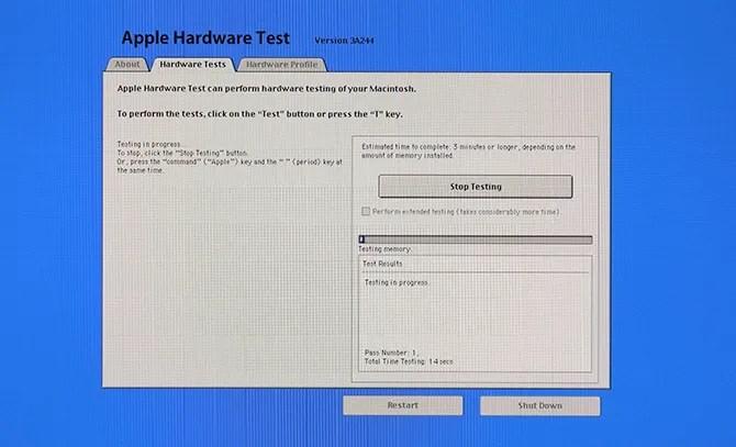 test dell'hardware di Apple