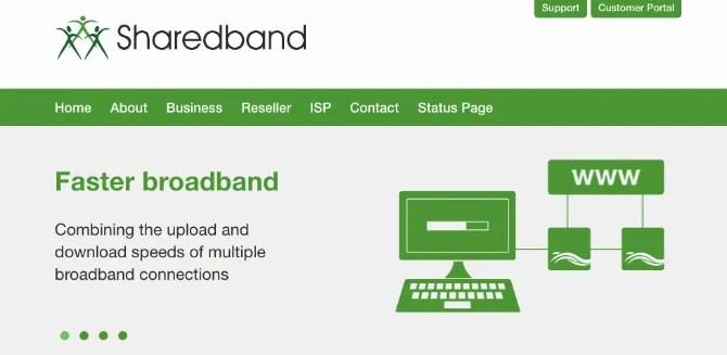 Incollaggio del canale in banda larga