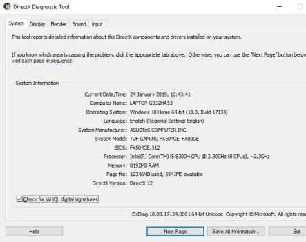 DirectX 12 settings in Windows 10