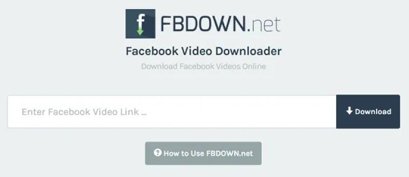 fbdown homepage