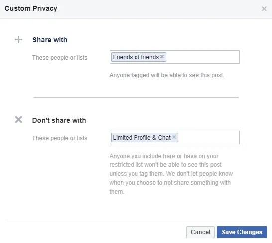 إنشاء قوائم أصدقاء جديدة على Facebook