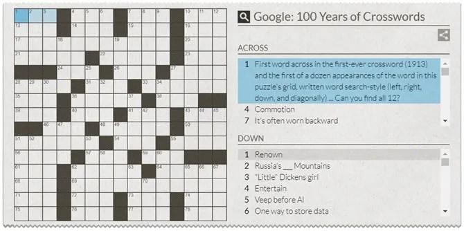 100 Years of Crosswords