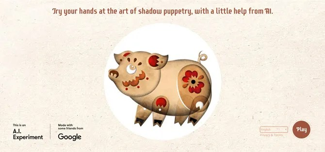 Shadow Art -- A Google Doodle Game
