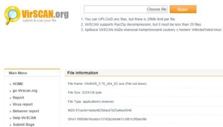 online antivirus virscan malicious scan