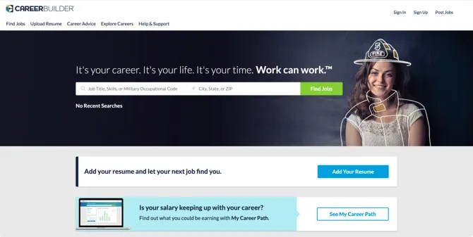 CareerBuilder مواقع البحث عن عمل