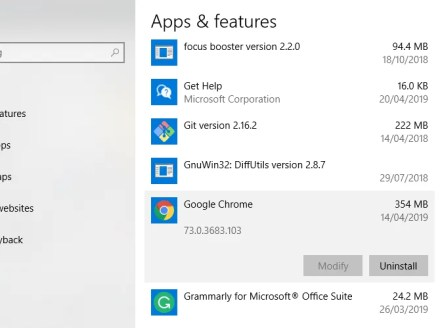 Windows 10 Uninstall Apps Menu Chrome Uninstall