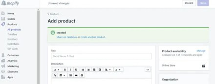 Shopify Product Title Description
