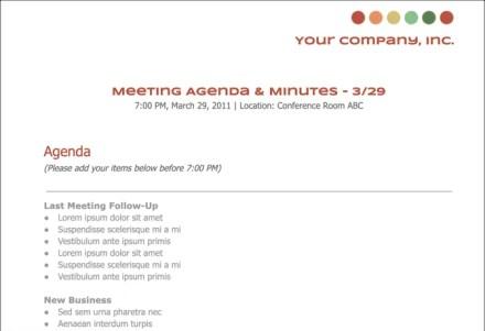 Google Docs Meeting Agenda Template