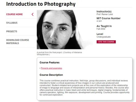 MIT-Introduction to Photography