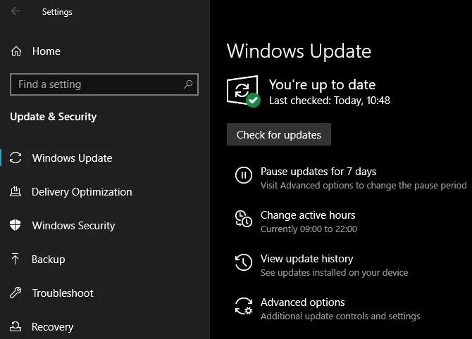 Windows 10 мая 2019 г. Центр обновления Windows