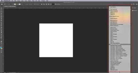 How to Make Digital Photo Frame Photoshop Pick New Color Palette
