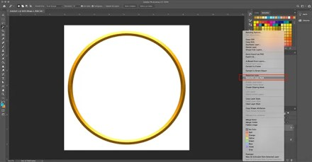 How to Make Digital Photo Frame Photoshop Rasterize Layer Style